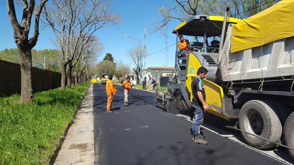 pavimentación de vías hecha