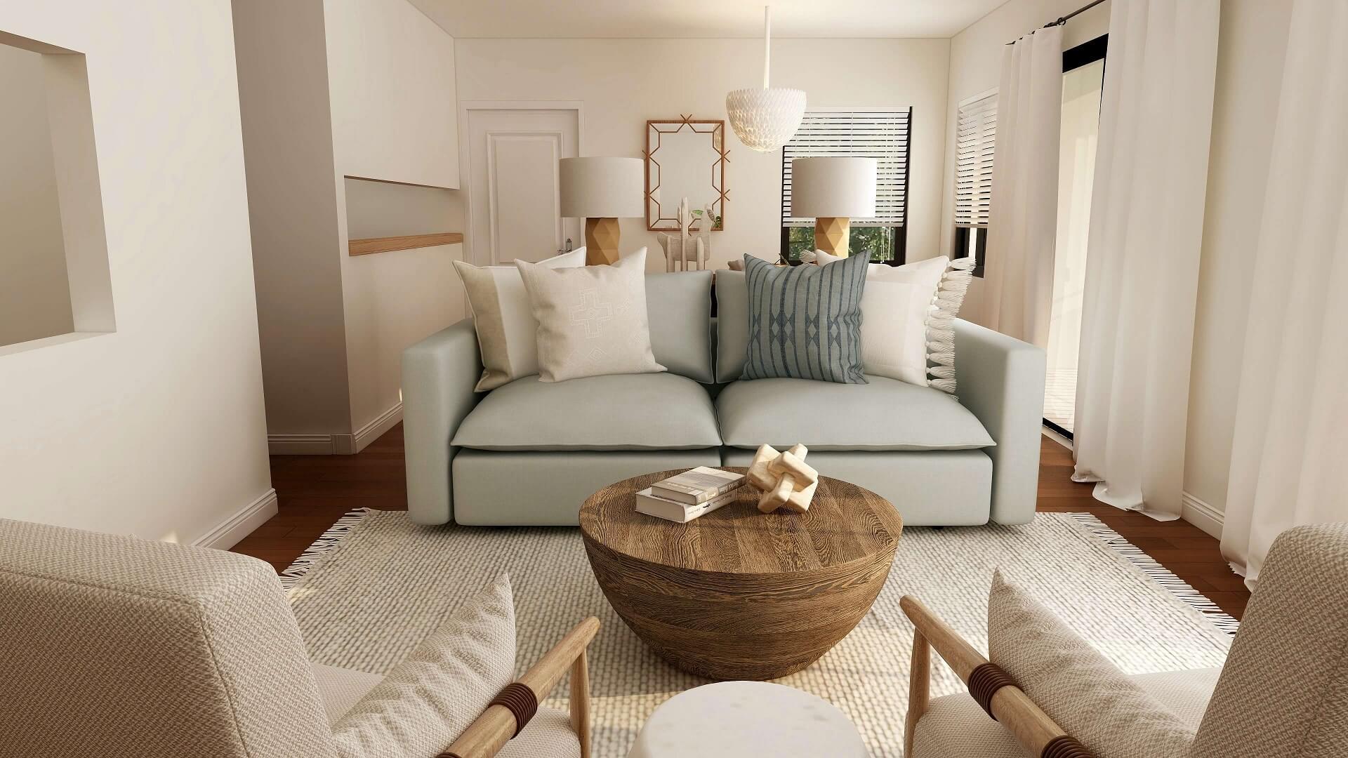 sala remodelada con diseño de interiores