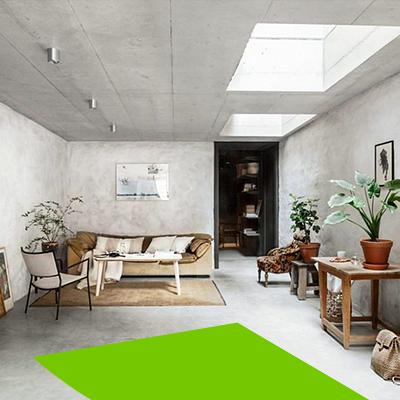 Erisa - Diseño de interiores de salas en tendencia - estilo wabi sabi