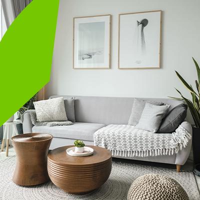 Erisa - Diseño de interiores de salas en tendencia - estilo nordico