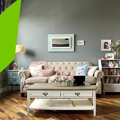 Erisa - Diseño de interiores de salas en tendencia - estilo romantico