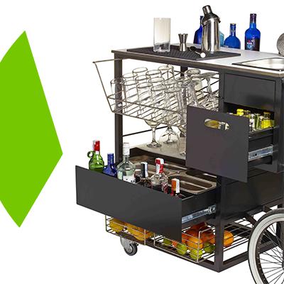 Erisa-10 maneras de transformar tu patio -Incluye un carrito móvil para las comidas y bebidas