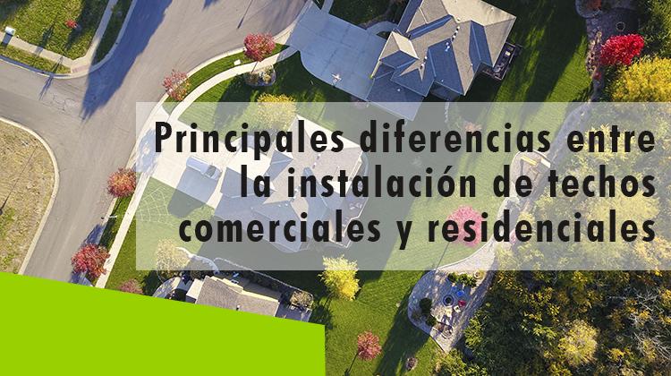 Erisa-Principales diferencias entre la instalación de techos comerciales y residenciales-Banner